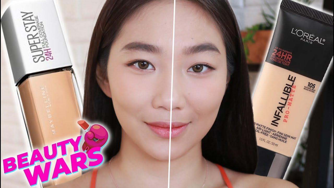 MAYBELLINE SUPERSTAY vs. LOREAL INFALLIBLE (Beauty Wars Ep. 2)   Raiza Contawi