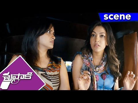 Kajal Argues With Vijay For Kissing In Public - Thuppakki Movie Scenes