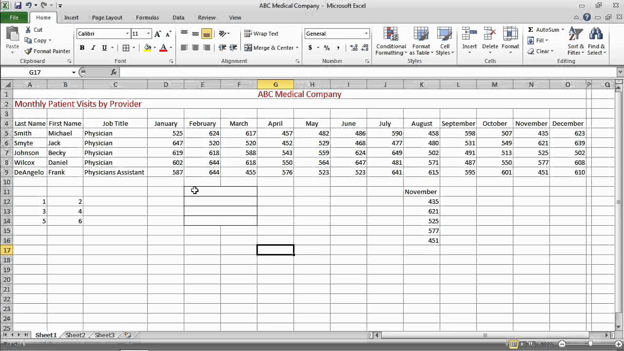 Excel 2010 Basics Merging And Splitting Cells Mov Youtube