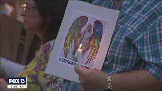 Gabby Petito memorial in Florida draws hundreds as search continues for Brian Laundrie
