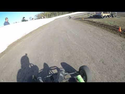 Big O Speedway 10-28-17 Outlaw Yard Kart Heat 2