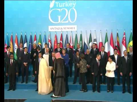 G20 2015 Family Photo in Antalya, Turkey