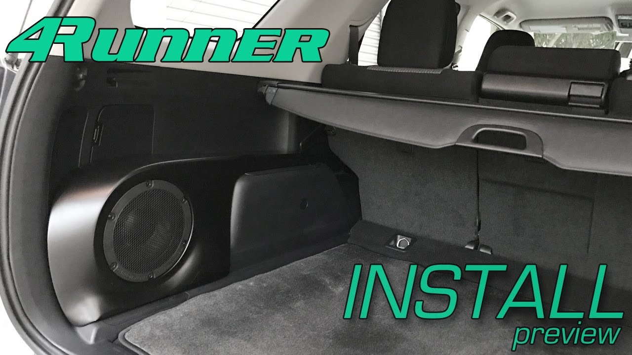 hight resolution of toyota 4runner sound solution install preview