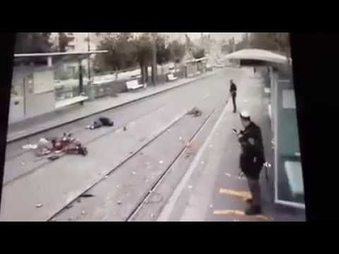 """watch the unbelievable moments of the """" Palestinian """" terror attack in Jerusalem."""
