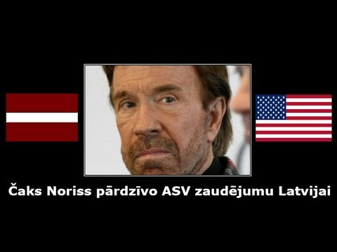 Čaks Noriss pārdzīvo ASV zaudējumu Latvijai