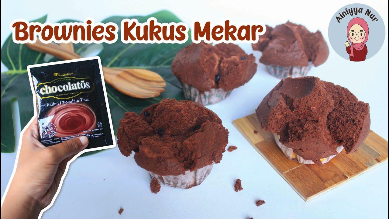 Brownies Kukus Chocolatos Mekar   Rasanya Nyoklat Banget