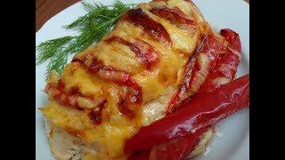 СОЧНАЯ КУРИНАЯ ГРУДКА с Овощами и Сыром * Запеченная в духовке