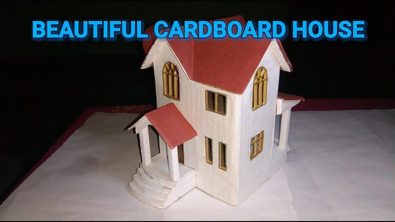 How To Make A Beautiful Cardboard House Youtube
