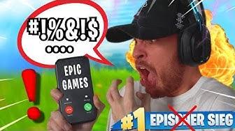 nach DIESER RUNDE rief ich bei EPIC GAMES AN. (wütend)