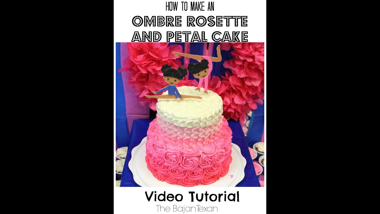 how to make a two tiered wedding cake ombre rosette and petal two tier cake tutorial 15877