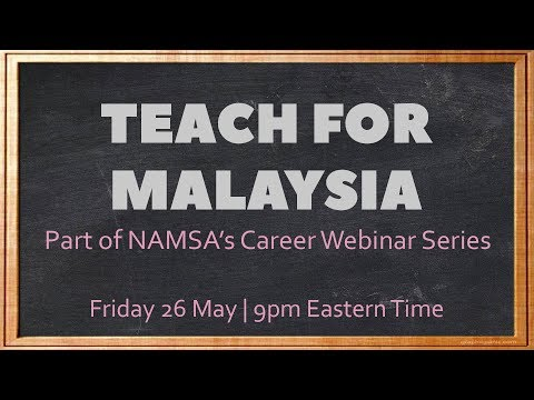 NAMSA Career Webinar: Teach For Malaysia 101