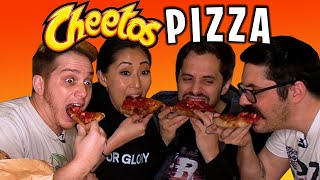 We made a CHEETOS PIZZA?! Co Video House Mukbang