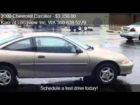 2000 Chevrolet Cavalier 2 Door 3 Owners For Sale In Longvie Youtube