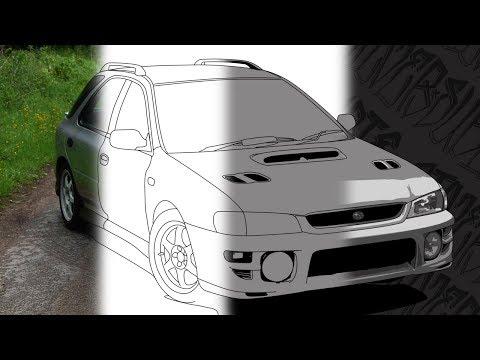 Car Illustration Art | Subaru Impreza | Photoshop CS5