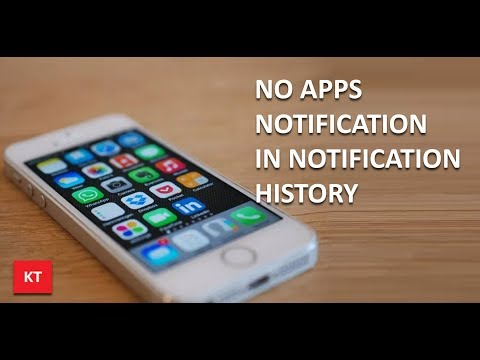 No app notification in the notification history in iPhone (iOS 11)