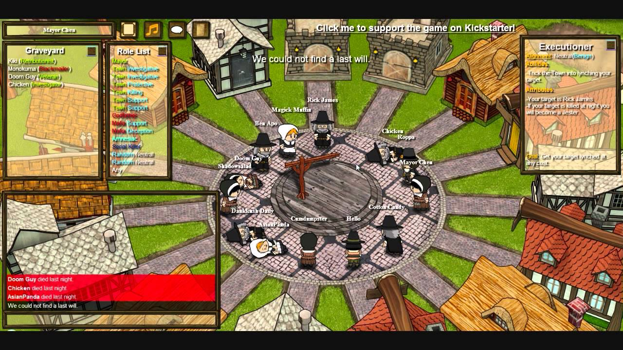 town of salem how to play executioner