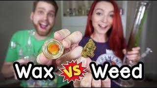 1 GRAM WEED vs 1 GRAM WAX CHALLENGE!!