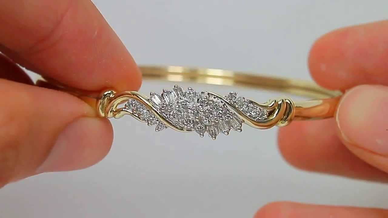 bangles diamond bracelet gold ladies bangle yellow image