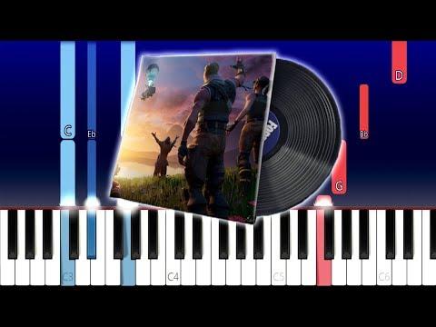 Fortnite The End Lobby Music (Piano Tutorial)