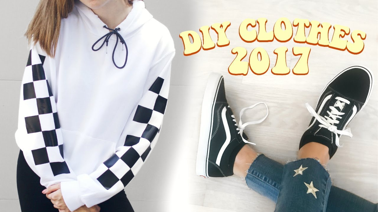 aff9292f27 DIY Clothes 2017! Transform old thrifted clothes - YouTube