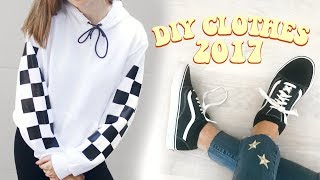 DIY Clothes 2017! Transform old/thrifted clothes