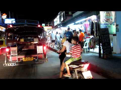 Koh Samui Chaweng Beach Road Night 15Nov.'11 サムイ島チャウエンビーチロード
