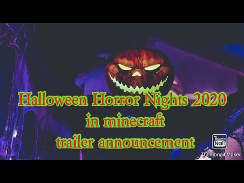 Halloween Horror Nights Trailer 2020 Halloween Horror Nights 2020 in minecraft announcement trailer