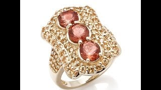 Rarities Sunstone and Spessartite Garnet 10K Ring