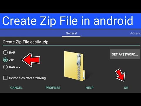 Create Zip File In Android Phone