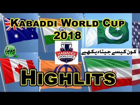 2018 Kabaddi World Cup Australia Highlits | All Kabaddi Wolrd CUp Matches Highlits