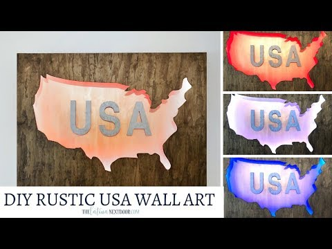 DIY Rustic USA Wall Art - Patriotic Wood Decor