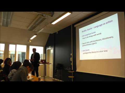 University of Gothenburg - Theories of Communication part 2 - Jens Allwood