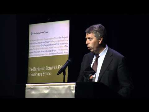 2010 Botwinick Prize in Business Ethics Keynote: Peter Blom