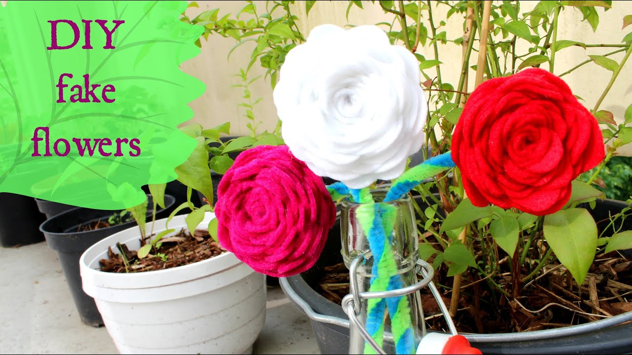 Diy Fake Flowers Youtube