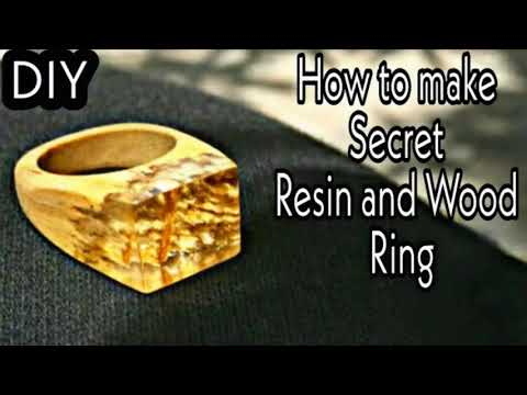 How To Make DIY Secret Resin And Wood Ring | Resin Ring | Resin Jewelry | Resin Craft | Epoxy Resin