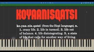 Philip Glass: Koyaanisqatsi (Complete Soundtrack) | Midi Visualisation