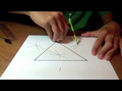 How to construct a circle circumscribed around a triangle.