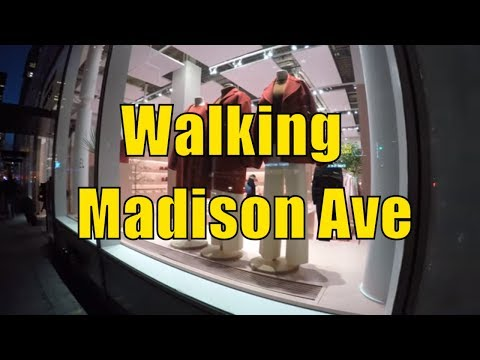 ⁴ᴷ Walking Tour of NYC, Manhattan - Madison Avenue from 59th