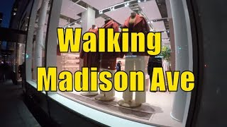 ⁴ᴷ Walking Tour of NYC, Manhattan - Madison Avenue from 59th Street to Madison Square Park