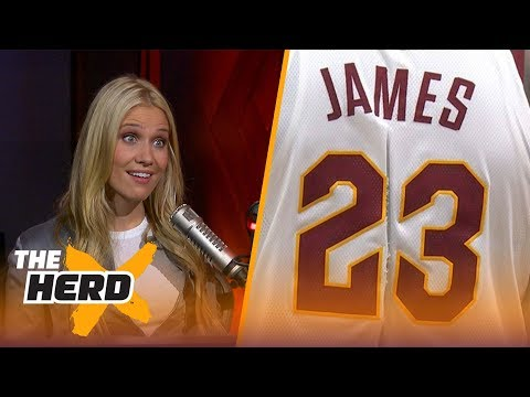 LeBron James' torn jersey is being auctioned off for how much? Kristine and Colin react  THE HERD