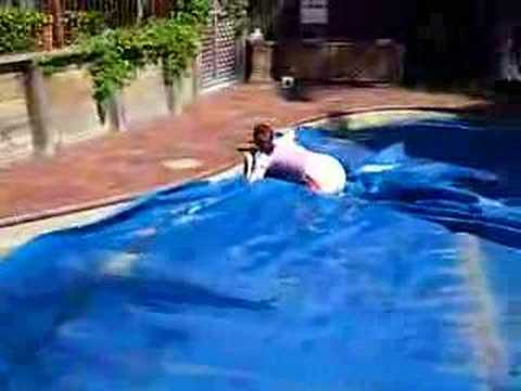 Walking On Pool Cover Youtube