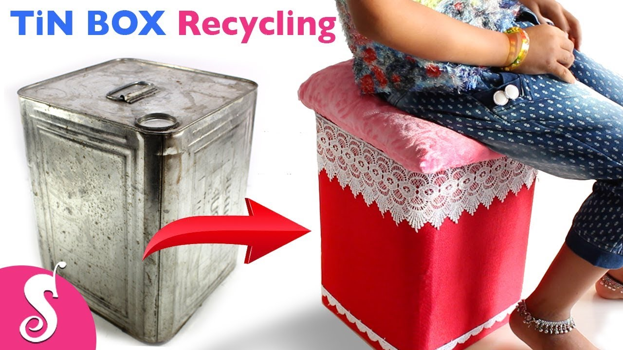 Tin Box Idea Make Easy Stool Amp Table Reusing Waste Tin
