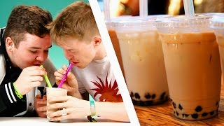 People Try Bubble Tea For The First Time