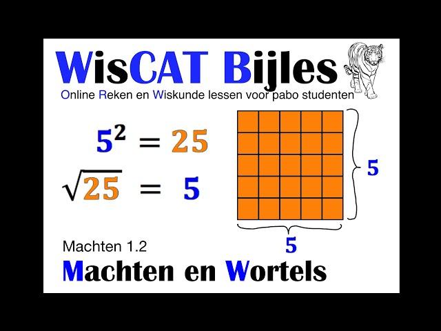 Machten en Wortels - WisCAT Werkboek: Machten 1.2