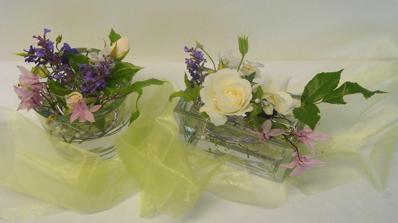 Hochzeitsgestecke Im Glas