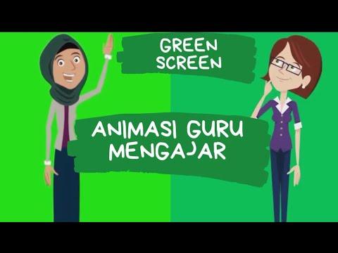Animasi Guru Perempuan Greenscreen Youtube