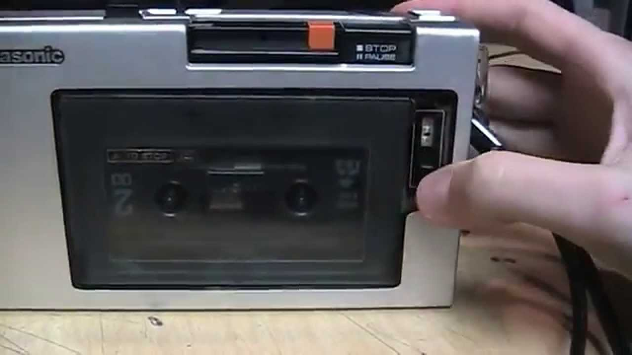 Portable Cassette Player In 1975