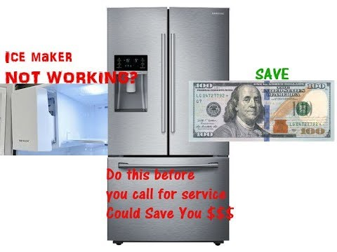 How To Reset Ice Maker For Samsung Refrigerator Youtube