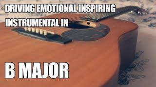 Driving Emotional Inspiring Alternative Rock Instrumental In B Major