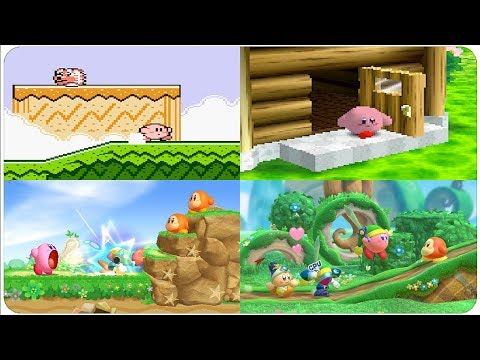 Evolution of First Levels in Kirby Games (1991 - 2018)